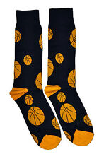 Mens Fun Crew Socks Basketball 1 Pair Ball Sport Themed Patterned Fashion Dad