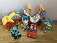Mixed Toy Bundle Peppa Pig 2003, ELC Happy Land Bob Builder Tractor Pirate Ship
