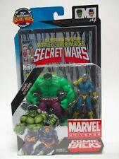 "HASBRO MARVEL UNIVERSE 3 3/4"" COMIC 2 PACK HULK & CYCLOPS SECRET WARS #4 MOC"