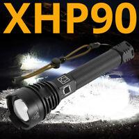 300000 Lumen Taschenlampe Zoombar XHP90 3 Modi LED Wiederaufladbar Licht +26650