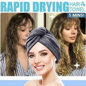 Magic Microfiber Quick Dry Bath Hair Drying Towel Wrap Hat Absorbent Shower Cap