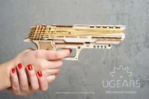 UGears Handgun 3-D Models KIT Wooden Puzzle Mechanical Self Assembling