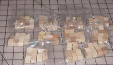 "110 Natural Unfinished HardWood Wood Blocks Square Cubes Crafts 1/2"" x 1/2"""