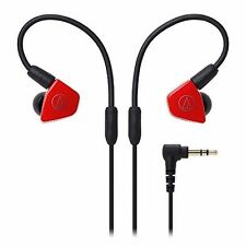 audio-technica ATH-LS50 RD Red Dynamic In-Ear Headphones NEW from Japan F/S