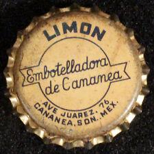 CANANEA LIMON LEMON SODA CORK LINED BOTTLE CAP CROWNS SONORA, MEXICO VINTAGE OLD