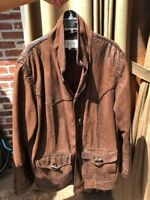 Vintage Alan Michael USA Men's Leather Jacket Size Large-Classic Jacket-Unique!