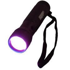 HQRP Profesional Linterna 12 LED UV Ultravioleta 365 nM Antorcha lámpara