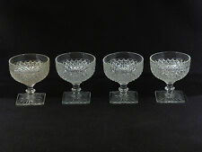Anchor Hocking Miss America Crystal Clear SHERBETS - Set of 4
