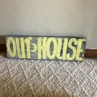 """Old Out House Wood Sign 7-3/4"""" x 24-1/2"""" Farm Country Decor Vintage OUTHOUSE"""