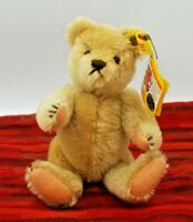 Vintage Steiff Celebration Teddy Bear w/tags & brass button 8""