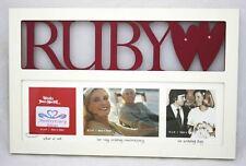 Ruby Wedding 40th Anniversary Gift Multi Photo Frame