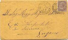 P8763   Firenze, annullo duplex numerale a sbarre, 1879, per Lugano