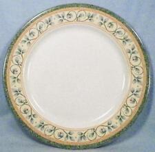 Pfaltzgraff French Quarter Dinner Plate Leaves Vines Stoneware Green Band EX