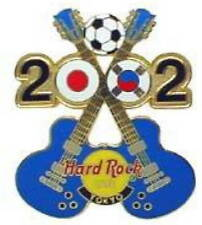 Hard Rock Cafe TOKYO 2002 World Cup Soccer PIN Crossed Blue Guitars #1 HR #15851