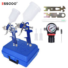Essgoo 0.8mm 1.4mm Nozzle Hvlp Auto Paint Air Spray Gun Kit Multiple Spray