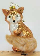 Fox Coyote Hunting Christmas Ornament Hand Blown Glass Robert Stanley Nwot 779