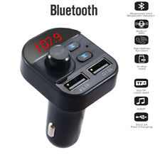 Car Fm Transmitter Bluetooth 5.0 2 Usb Charger Handsfree Adapter Mp3 Player Kit