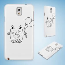 MINIMALISTIC CAT 10 CASE FOR SAMSUNG GALAXY NOTE 2 3 4 5 8 9