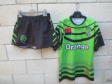 Maillot rugby + short porté n°15 A.S.G.R GATOR made in France match worn shirt L