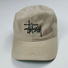 VTG Stussy Spell Out Double S Logo USA Made Distressed Fitted Cap Hat Size Large