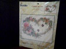 Cross Stitch Kit Bucilla Grapevine Wreath with Floral Kit # 43092 Donna Dewberry