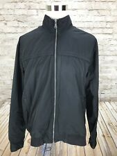 Tommy Bahama Men's XL Nylon Black Full Zip Windbreaker Jacket Pockets