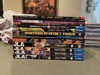 DC JLA Batman Aquaman Nightwing Batgirl Flash TPB Lot Tomasi Waid Brubaker Rucka