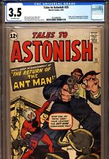 TALES TO ASTONISH #35 CGC 3.5 2nd app Ant Man, 1st in Costume Marvel Comics 1962