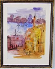 Framed Watercolor Abstract byRonnie Goldberg