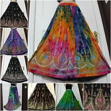 Plus Size Boho Gypsy Long Sequin Party Skirt Dress 8 10 12 14 16 18 20 22 24