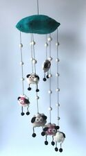 Children's room decoration felt craft hanging and mobile handmade in Nepal