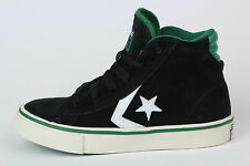 [E134] Converse Pro Leather Mid All Star Sneaker Kids Black Gr 31 US 13  340114C