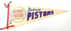 Vintage 1969-70 Detroit Pistons Full Size Basketball Pennant