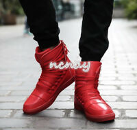 Mens Hip Hop Lace Up Sneakers High Top Trainers Shoes basketball Sneakers Sport