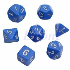 7pcs Blue Sided Die D4 D6 D8 D10 D12 D20 DUNGEONS&DRAGONS D&D RPG Poly Dice Gam
