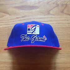 Vtg 90s NWOT The Game USA Flag Colors SnapBack Hat Big Logo Split OG Script