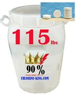 115bs Chlorine-King 90% Chlorine TABLETS dissolve 24hrs or less some broken tabs
