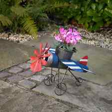 Beautiful Metal Garden Aeroplane Planter - Plant Pot - Garden Ornament