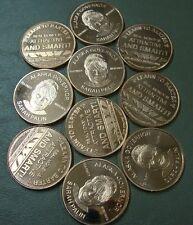 Copper Rounds 6-Pack ~ Sarah Palin ~ Lot Of 6 Troy Ounces .999 Fine