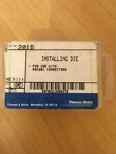 THOMAS & BETTS SHIELD-KON RSK installation die 201D - New Boxed & Instructions