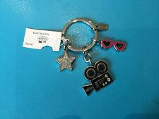 NEW Coach Hollywood Camera Sunglasses Star Multi Mix Charm/Key Chain/Ring #92861