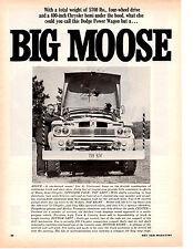 1966 DODGE POWER WAGON ~ ORIGINAL 2-PAGE ARTICLE / AD