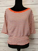 We The Free Stretchy Boat Neck Wide Sleeve Thermal Knit Top Size XS