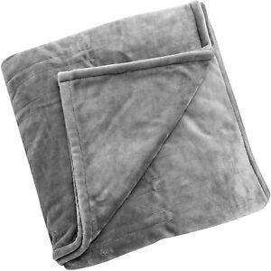 "Brookstone Heated Blanket Queen Dual-Dark Grey-84""x90""- Machine Washable"