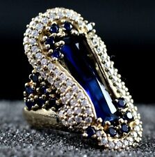 TURKISH HANDMADE SAPPHIRE STERLING SILVER 925K RING SIZE 6,7,8,9,10