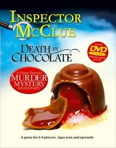 NEW Inspector McClue DEATH BY CHOCOLATE Mystery Dinner Party DVD Game BOX DAMAGE
