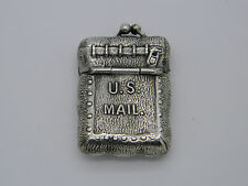 Vintage Novelty Solid Silver US Mail Bag Stamp Case Purse Stamped Sterling