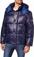 Tommy Hilfiger Mens Jacket Blue Size XL Puffer Hooded Quilt Full-Zip $329 #132
