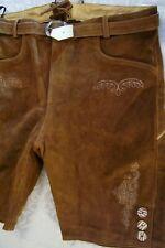 NEW US Sz.40,Germany,Trachten,Lederhosen Shorts w.Belt.Brown,shorter,Oktoberfest