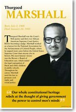 New Thurgood Marshall Poster - Our Whole Constitutional Heritage - Black History